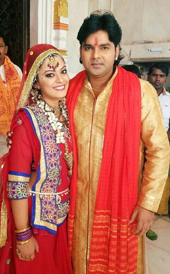Pawan Singh, Tanushree Chatterjee Ziddi Bhojpuri Movie Shooting stills, Ziddi Bhandar Bhojpuri Movie