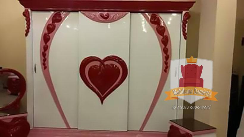 غرف نوم اطفال قلوب