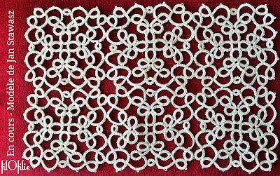 frivolité, dentelle aux navettes, patchwork d'un modèle de Jan Stawasz