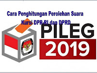 Cara Penghitungan Perolehan Suara Kursi DPR-RI dan DPRD Pileg 2019