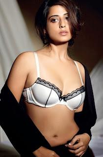 Mahie In Sexy Black And White Bra