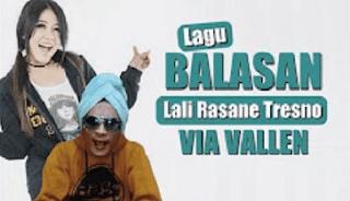 Lirik Lagu Balasan Lali Rasane Tresno - Via Vallen