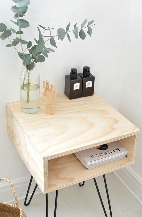 Diy mesita auxiliar de estilo nórdico by Habitan2 | Mesita nórdica handmade a precio low cost