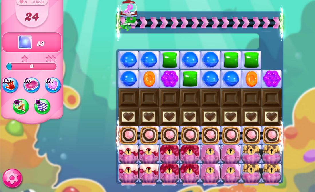 Candy Crush Saga level 6662