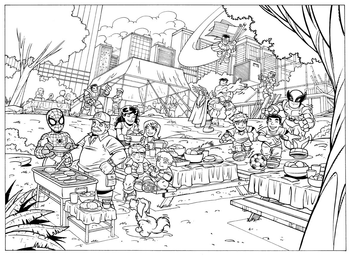 hero squad coloring pages - photo#18