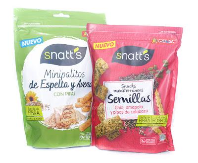 Snatt's minipalitos espelta-avena y mediterráneas semillas con chía