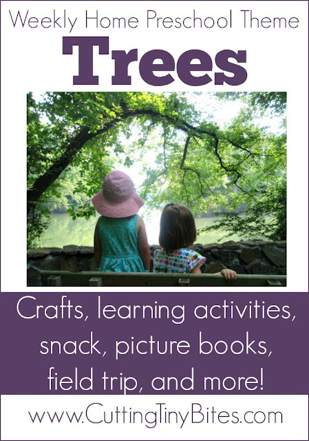 Tree Theme Weekly Home Preschool. Crafts, fine motor, picture books, science, math, snack and more! Perfect amount of activities for one week of EASY home preschool!