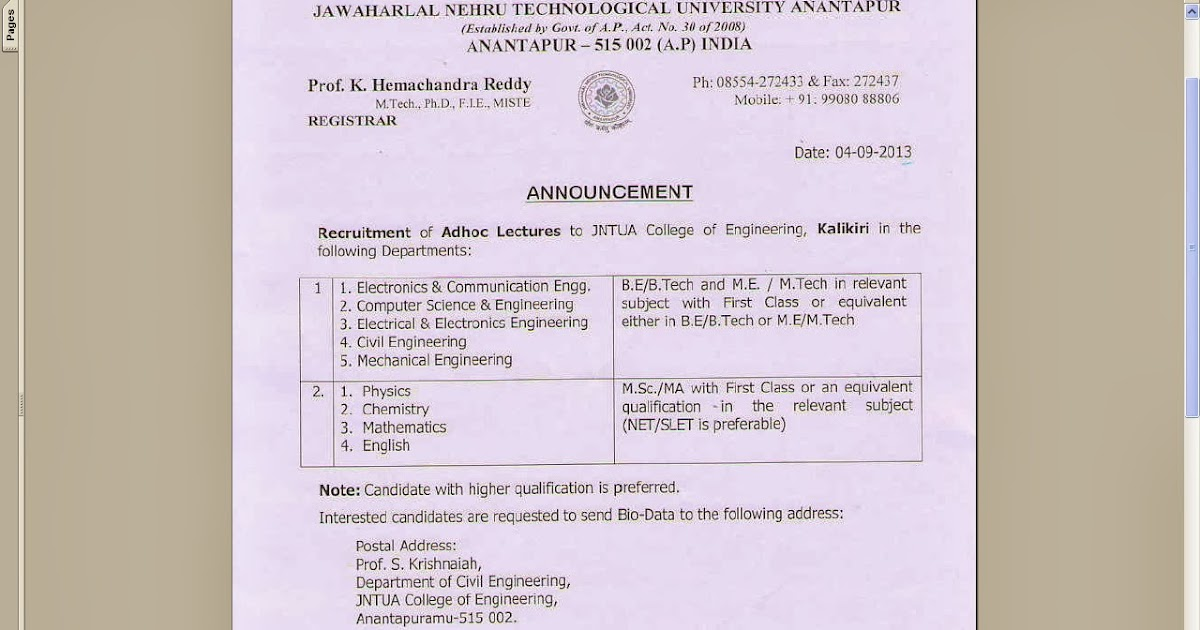 Jntu hyd Ece 2 2 Lab Manuals