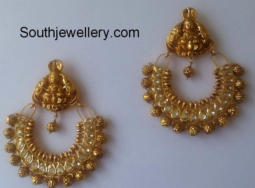 Lakshmi Chandbali Earrings - Jewellery Designs