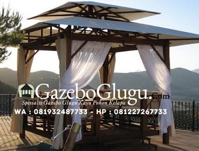 Gazebo Atap Kanvas