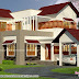 4 bedroom sloping roof mix modern home