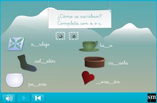 http://www.primerodecarlos.com/SEGUNDO_PRIMARIA/febrero/tema4/actividades/lengua/z_c_sm/player.swf