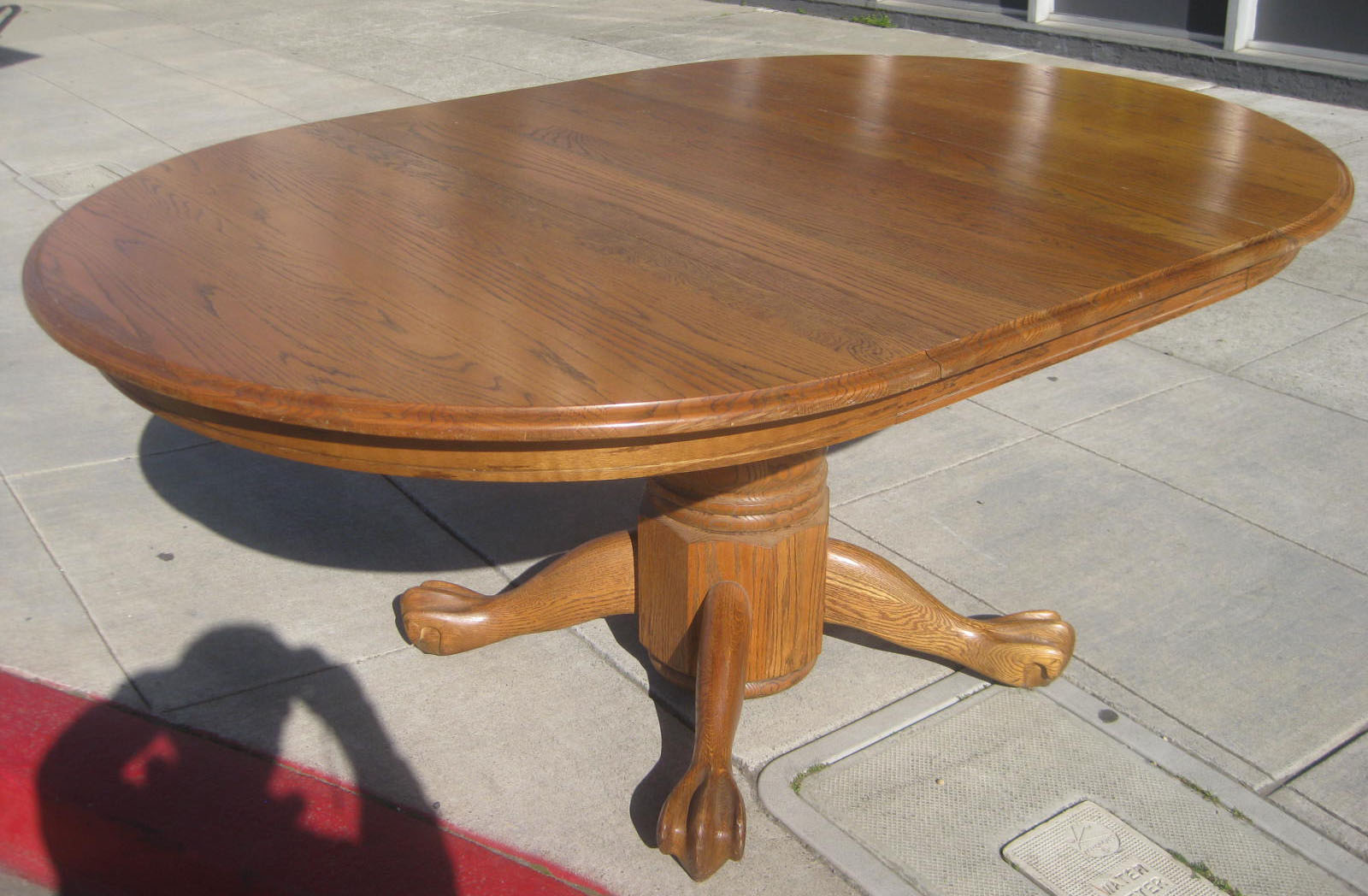 Uhuru Furniture Collectibles Sold Oak Clawfoot Table 145