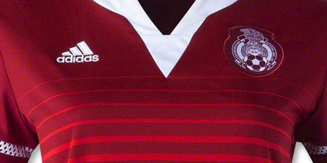 7f626a26b The new red Adidas Mexico 2015 Women s World Cup Away Shirt features a  unique design