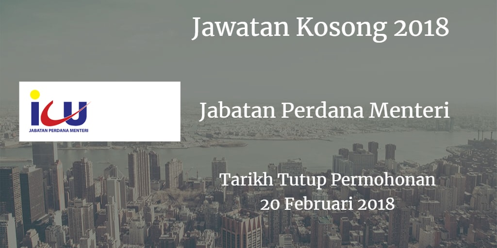 Jawatan Kosong ICU JPM 20 Februari 2018