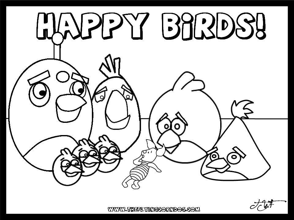PENDIDIKAN SENI D20102046029: angry bird colouring templates