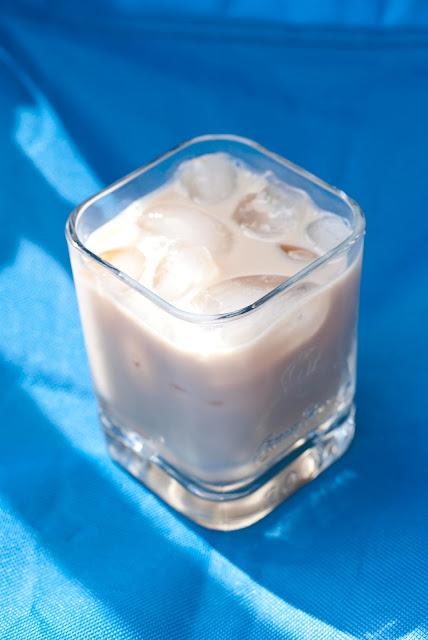coconut pie cocktail, malibu rum, coconut rum, kahlua, milk
