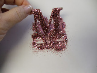 UpDate Chipboard Letters with Glitter 5