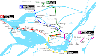 Plano del metro de Montreal