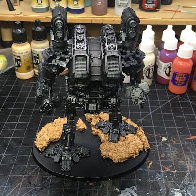 Adeptus Titanicus Warlord WIP - back