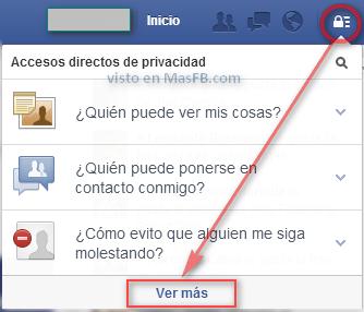 Ver más configuración en Facebook - MasFB