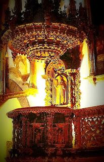 Púlpito da Iglesia de San Blas, em Cusco