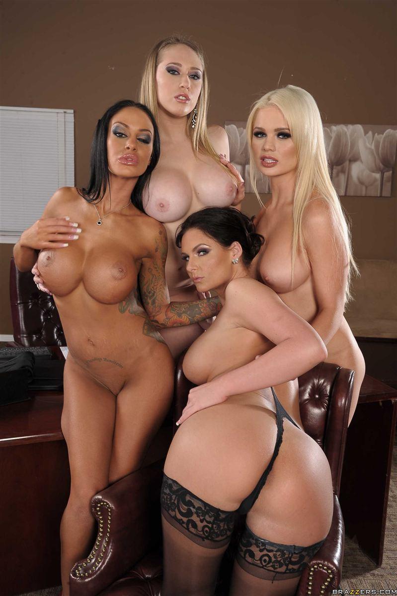 Jessica lynn, nika noire & nikki benz - big tits at school