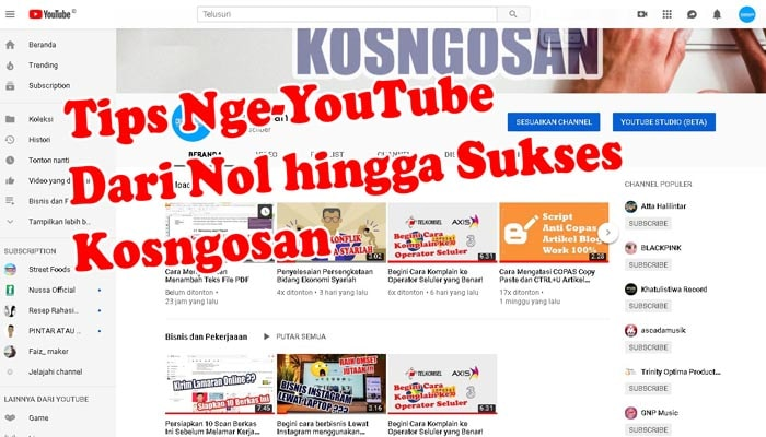 tips youtube