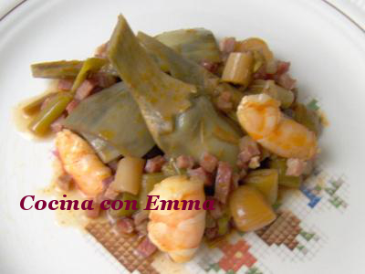 Alcachofas al pimentón