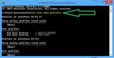 إستخراج كلمة السر للشبكة في حاسوبك أو في مقاهي الأنترنت بسهولة و بدون برامج