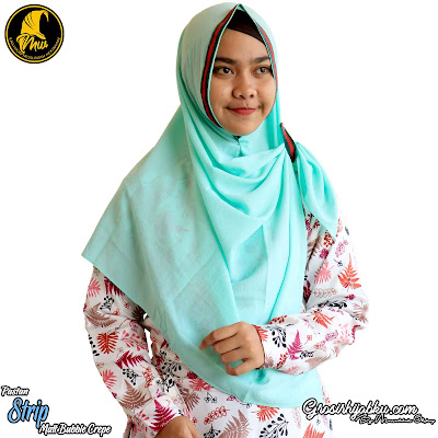 Pastan Bubble Crepe Model Syari Desain Simple