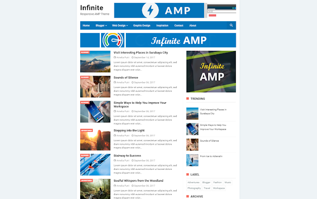 Download grátis AMP blogger theme