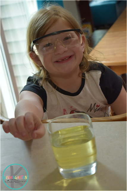 Colorful Oil and Water Science Experiment  Kindergarten