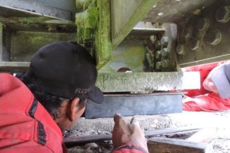 Pemasangan Bantalan Karet atau Elastomer untuk Jembatan