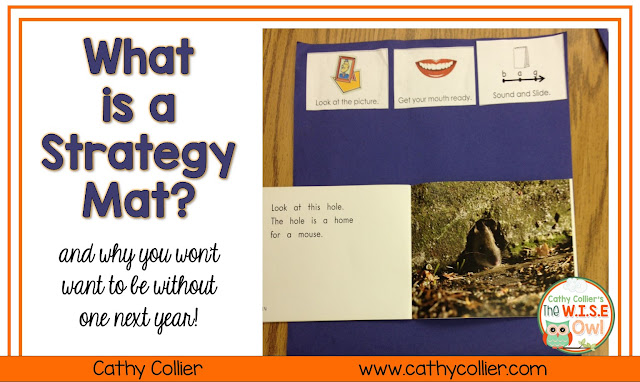 Creating independent readers is one of the most important steps in teaching reading.  Students can use Strategy Mats to become independent readers.  Adding picture cues to help them be independent is invaluable!