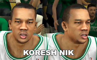 NBA 2K13 Boston Celtics Cyber Face Pack Avery Bradley