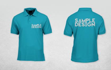 Download Mockup Polo Shirt CDR Version