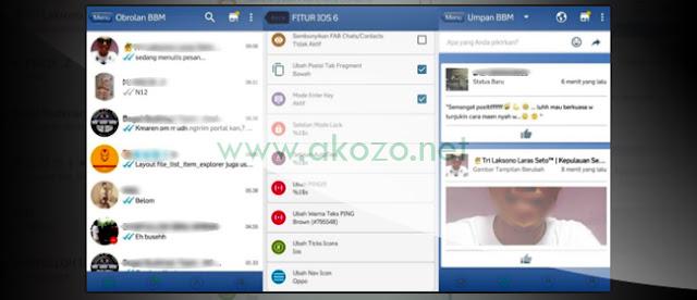 Koleksi BBM Mod iPhone APK Android Terbaru Paling Keren