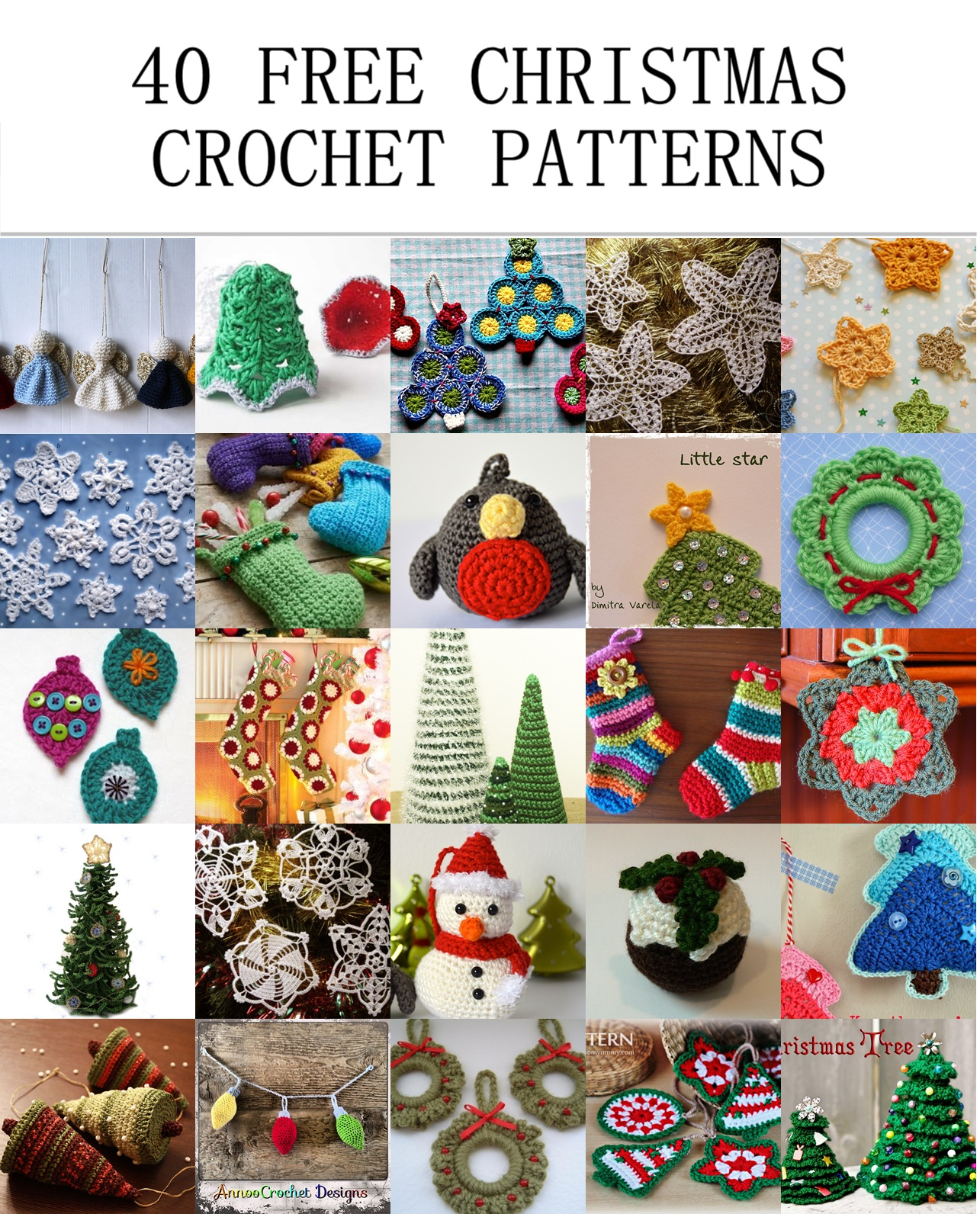 40 free christmas crochet patterns crochet arcade just click on the photo to go to the original websiteblog that includes the free crochet pattern have fun bankloansurffo Image collections