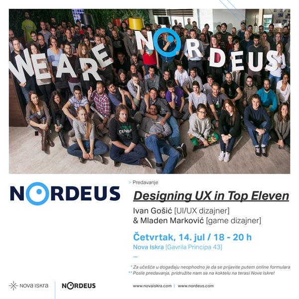 Prijavite se za Nordeusov UX meetup u Novoj Iskri!