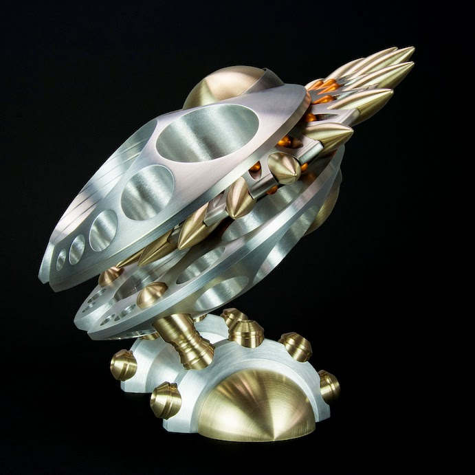 Machine Art, Machined Metal Sculpture, metal Art