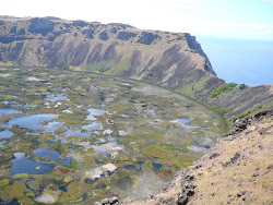 Lip and Center of Rano Kau Crater -- Orongo, Easter Island