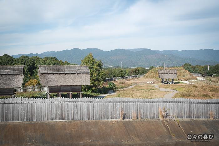 Kitanaikaku, vue sur Kita Funkyubo, parc Yoshinogari, Saga