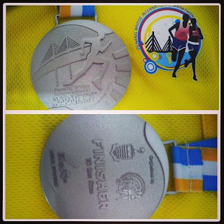 finisher medal penang bridge marathon 2013