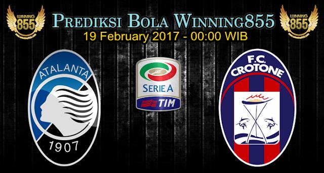 Prediksi Skor Atalanta vs Crotone 19 February 2017