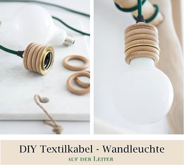 DIY Textilkalbel Leuchte
