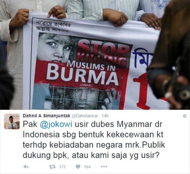 Pembantaian 150 Muslim Rohingya, Muhammadiyah: Pak Jokowi Usir Dubes Myanmar, atau Kami yang Usir : Berita Terupdate Hari Ini