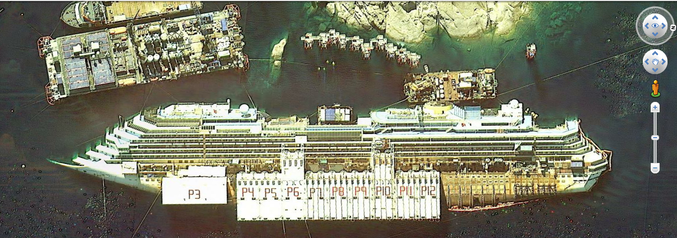 Costa Concordia Place of Acident