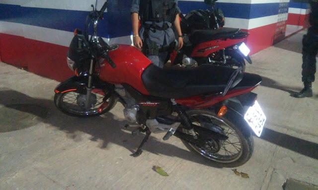 Policiais Militares do 9º BPM recupera motocicleta roubada