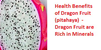 Health Benefits of Dragon Fruit (pitahaya)  - Dragon Fruit are Rich in Minerals